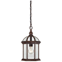 Nuvo Lighting Boxwood 1 Light Outdoor Hanging Lantern in Rustic Bronze 60/4978