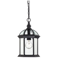 Boxwood 1 Light 8 inch Textured Black Outdoor Hanging Lantern