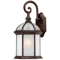 Boxwood 1 Light 16 inch Rustic Bronze Outdoor Wall Lantern
