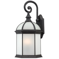 Nuvo Lighting Boxwood 1 Light Outdoor Wall in Textured Black 60/4983