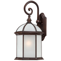 Nuvo Lighting Boxwood 1 Light Outdoor Wall Lantern in Rustic Bronze 60/4985
