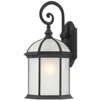 Nuvo Lighting Boxwood 1 Light Outdoor Wall Lantern in Textured Black 60/4986