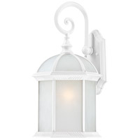 Nuvo Lighting Boxwood 1 Light Outdoor Wall Lantern in White 60/4987