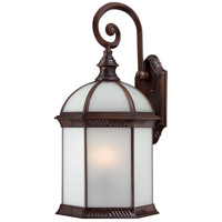 Nuvo Lighting Boxwood 1 Light Outdoor Wall Lantern in Rustic Bronze 60/4988