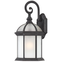 Nuvo Lighting Boxwood 1 Light Outdoor Wall Lantern in Textured Black 60/4989