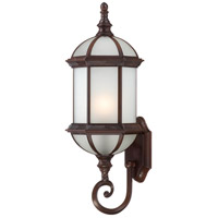 Nuvo Lighting Boxwood 1 Light Outdoor Wall Lantern in Rustic Bronze 60/4992
