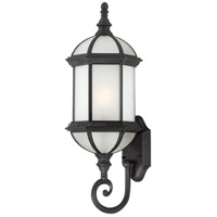 Boxwood 1 Light 22 inch Textured Black Outdoor Wall Lantern