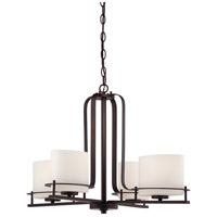 Nuvo Lighting Loren 4 Light Chandelier in Venetian Bronze 60/5004