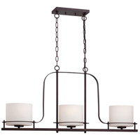 Loren 3 Light 36 inch Venetian Bronze Island Pendant Ceiling Light