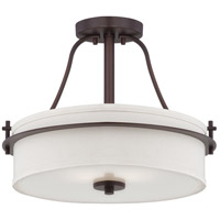 Loren 2 Light 15 inch Venetian Bronze Semi-Flush Mount Ceiling Light