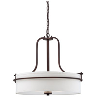 Nuvo 60/5008 Loren 3 Light 22 inch Venetian Bronze Pendant Ceiling Light