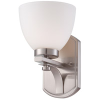 Bentley 1 Light 7 inch Brushed Nickel Vanity Wall Light
