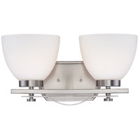 Bentley 2 Light 15 inch Brushed Nickel Vanity Wall Light