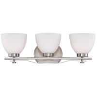 Bentley 3 Light 24 inch Brushed Nickel Vanity Wall Light