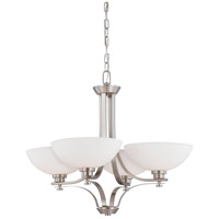 Bentley 4 Light 28 inch Brushed Nickel Chandelier Ceiling Light