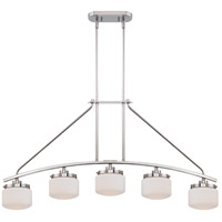 Nuvo Lighting Austin 5 Light Island Pendant in Polished Nickel 60/5024