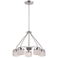 Nuvo 60/5025 Austin 5 Light 24 inch Polished Nickel Chandelier Ceiling Light