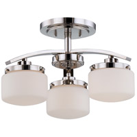 Nuvo Lighting Austin 3 Light Semi-Flush Mount in Polished Nickel 60/5028