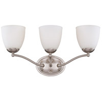 Patton 3 Light 21 inch Brushed Nickel Vanity Wall Light