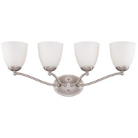 Patton 4 Light 28 inch Brushed Nickel Vanity Wall Light