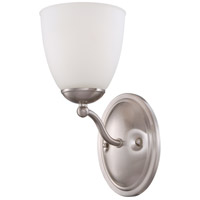 Patton 1 Light 8 inch Brushed Nickel Vanity Wall Light