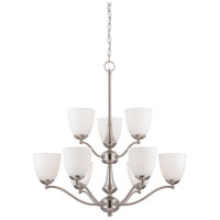 Patton 9 Light 30 inch Brushed Nickel Chandelier Ceiling Light