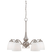 Patton 5 Light 25 inch Brushed Nickel Chandelier Ceiling Light