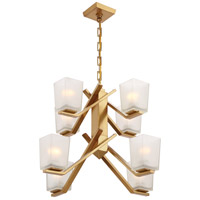 Timone 8 Light 27 inch Vintage Brass Chandelier Ceiling Light