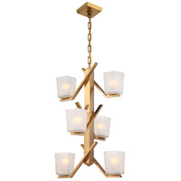 Timone 6 Light 19 inch Vintage Brass Pendant Ceiling Light