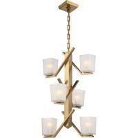 Nuvo 60/5084 Timone 6 Light 19 inch Vintage Brass Pendant Ceiling Light