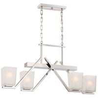Nuvo 60/5093 Timone 4 Light 36 inch Polished Nickel Pendant Ceiling Light