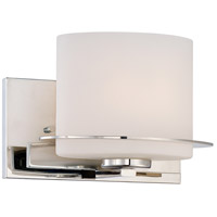 Loren 1 Light 9 inch Polished Nickel Vanity Wall Light