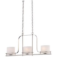 Nuvo 60/5106 Loren 3 Light 36 inch Polished Nickel Island Pendant Ceiling Light