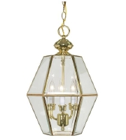 Nuvo Lighting Signature 3 Light Pendant in Polished Brass 60/511