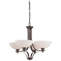 Nuvo Lighting Bentley 4 Light Chandelier in Hazel Bronze 60/5114