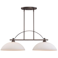 Bentley 2 Light 36 inch Hazel Bronze Island Pendant Ceiling Light