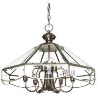 Nuvo 60/512 Signature 5 Light Brushed Nickel Chandelier Ceiling Light