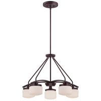 Nuvo 60/5125 Austin 5 Light 24 inch Russet Bronze Chandelier Ceiling Light