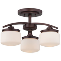 Nuvo Lighting Austin 3 Light Semi-Flush Mount in Russet Bronze 60/5128