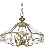 Nuvo 60/513 Signature 5 Light 22 inch Polished Brass Chandelier Ceiling Light