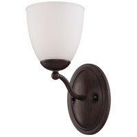 Patton 1 Light 6 inch Prairie Bronze Vanity Wall Light