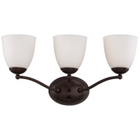 Patton 3 Light 21 inch Prairie Bronze Vanity Wall Light