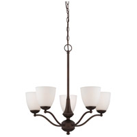 Nuvo Lighting Patton 5 Light Chandelier in Prairie Bronze 60/5135