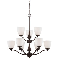 Patton 9 Light 30 inch Prairie Bronze Chandelier Ceiling Light