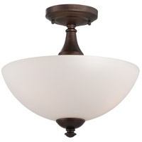 Patton 3 Light 13 inch Prairie Bronze Semi-Flush Mount Ceiling Light