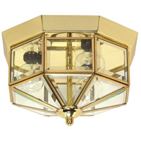 Nuvo Lighting Signature 3 Light Close-to-Ceiling in Polished Brass 60/515