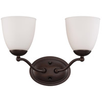 Patton 2 Light 15 inch Prairie Bronze Vanity Wall Light