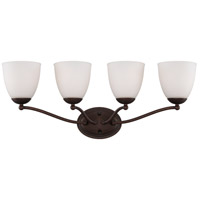 Patton 4 Light 28 inch Prairie Bronze Vanity Wall Light