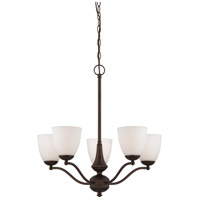 Nuvo Lighting Patton 5 Light Chandelier in Prairie Bronze 60/5155