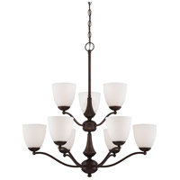 Nuvo Lighting Patton 9 Light Chandelier in Prairie Bronze 60/5159